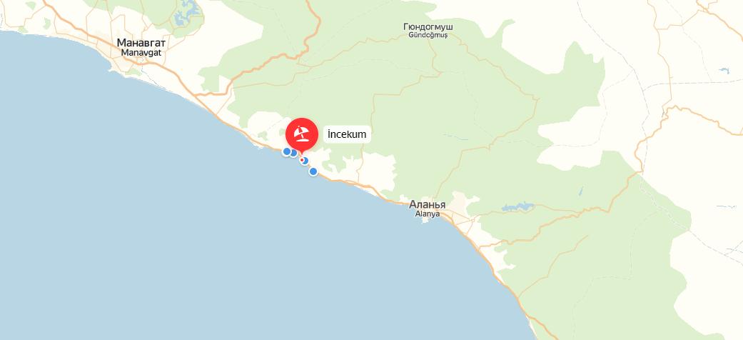 Инжекум (Турция) на карте